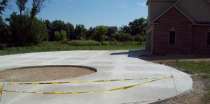 Concrete Round Driveway paving installed in miami florida
